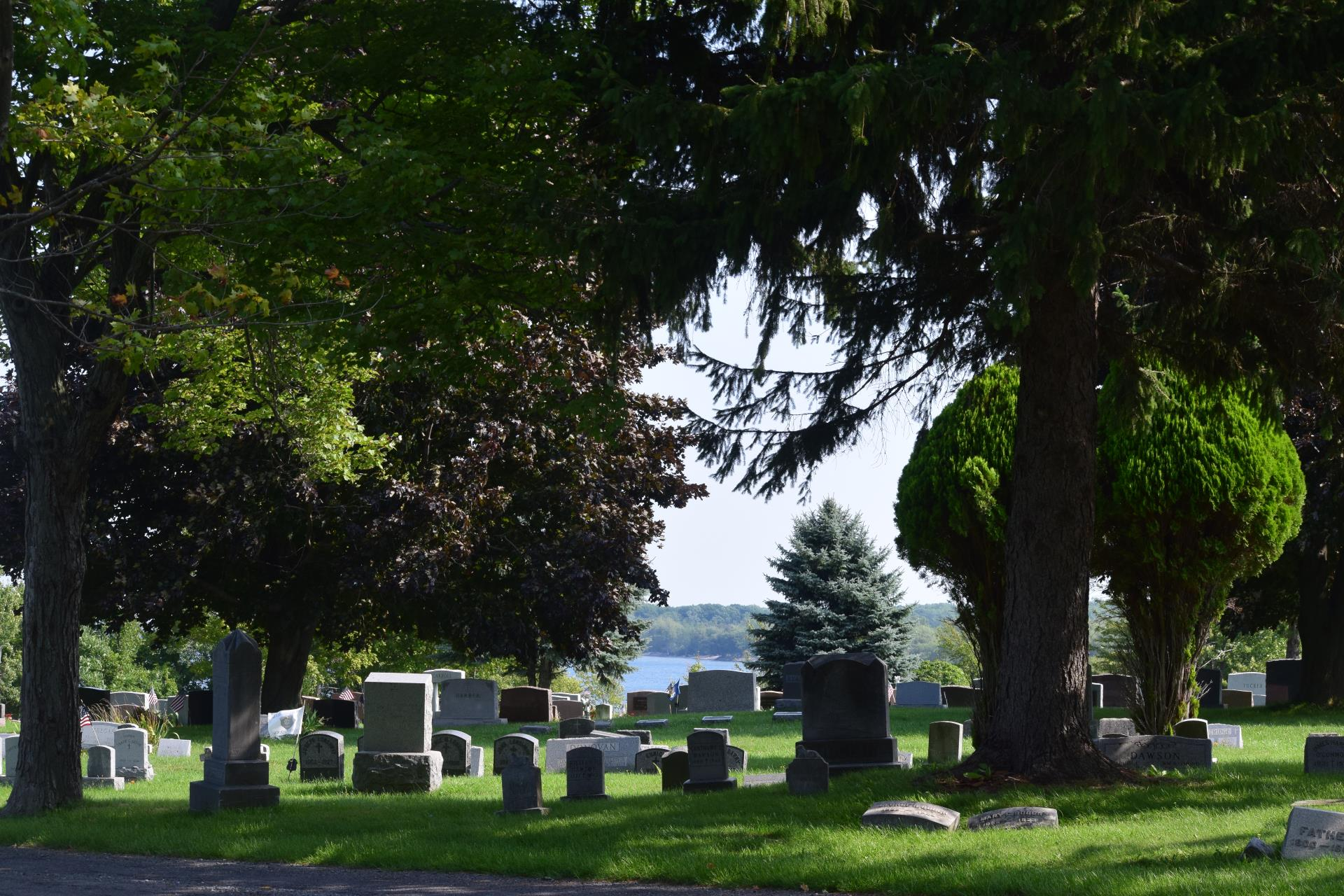 Burial grounds at St. Paul's Cemetery in Oswego