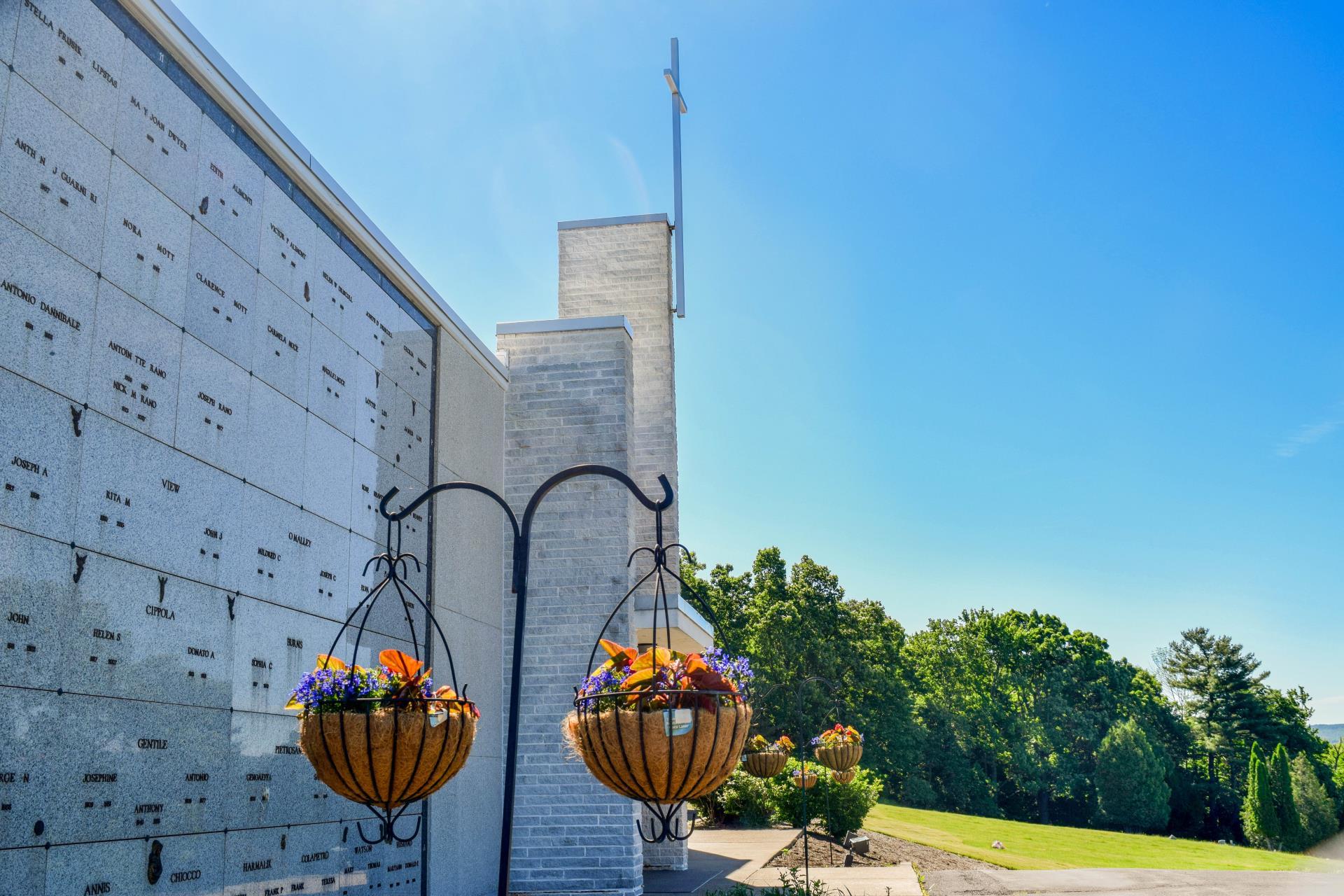 Outdoor columbarium area