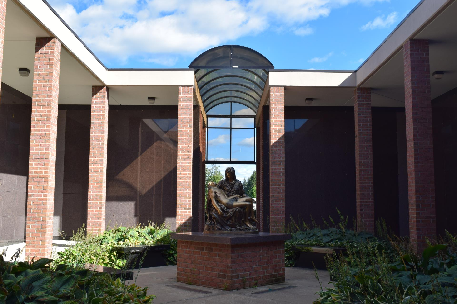 Mausoleum Courtyard at Holy Trinity Cemetery