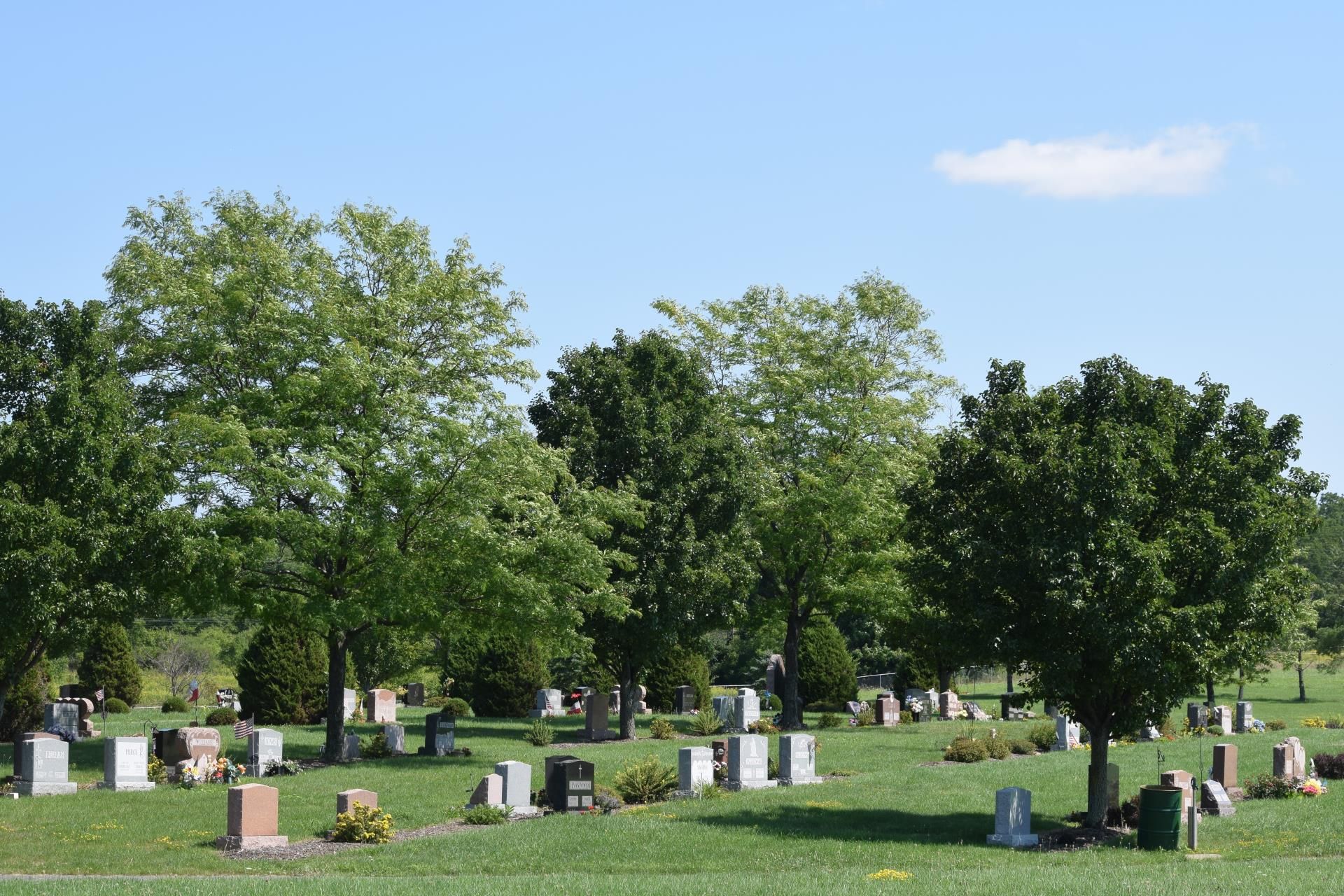 Burial grounds at Sacred Heart Cemetery