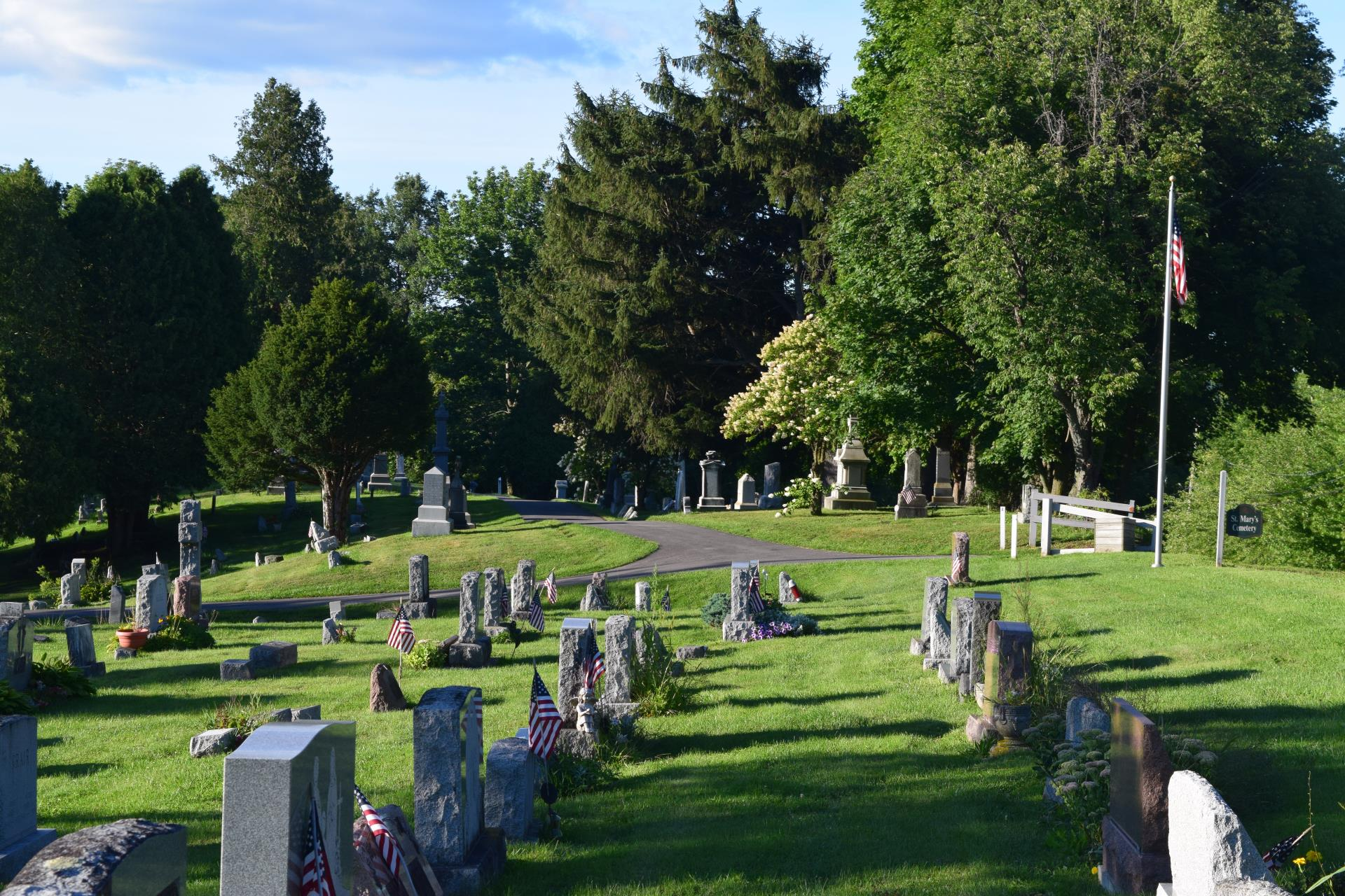 Burial grounds at St. Mary's Cemetery