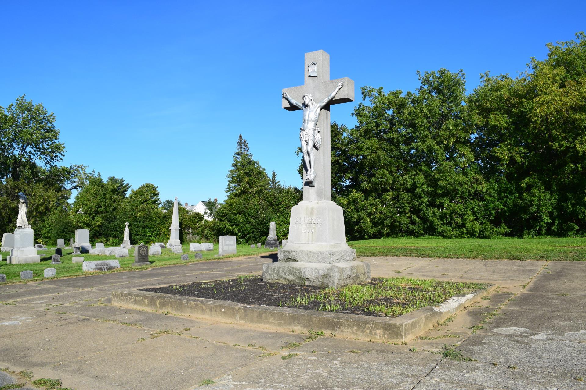Large crucifix monument